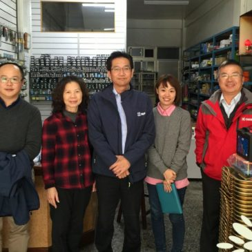 (1月) 日本OSG台灣分公司 – 營業副總 松尾桑 至本司進行業務交流,大歡迎